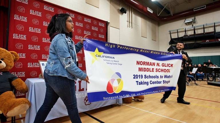 Students at Modesto school celebrate being among those to watch
