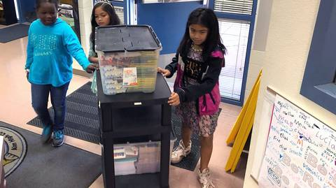 Bins of donated supplies give boost to Stanislaus schools in need